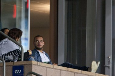 Wesley Sneijder watches the game