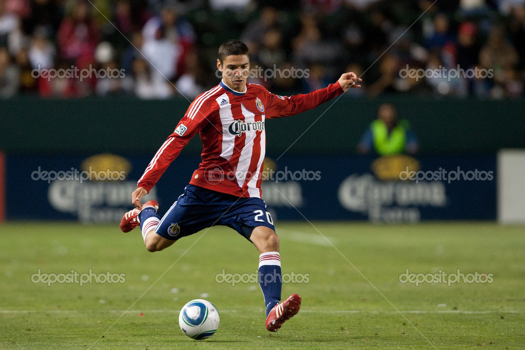 Chivas USA Defender Zarek Valentin In Action During The Major League Soccer  Game Between Vancouver Whitecaps FC And Chivas USA At The Home Depot Center.