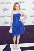 MORGAN LILY arrives at Paramount Pictures Justin Bieber: Never Say Never premiere