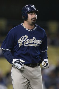 ADRIAN GONZALEZ during the game
