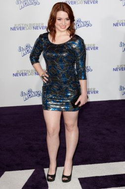 JENNIFER STONE arrives at the Paramount Pictures Justin Bieber: Never Say Never premiere