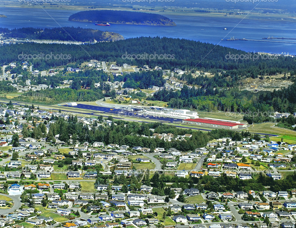 Aeroporto Washington : Anacortes aeroporto washington ariel — foto stock