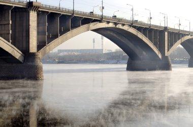 Bridge Communal over the Yenisei river in Krasnoyarsk