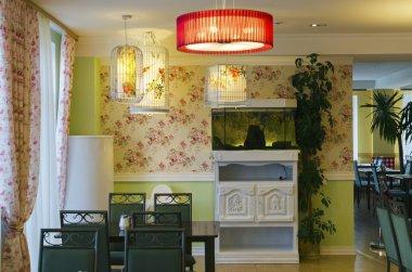 Dining room interior in a health resort