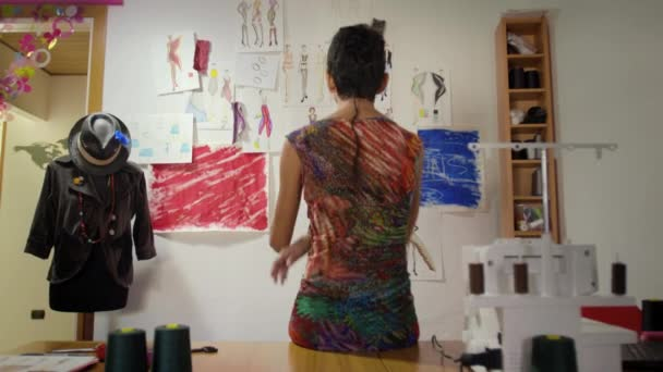 Woman working as fashion designer