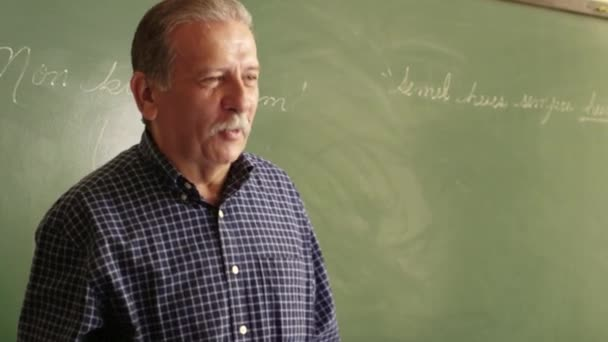 School , professor talking to students during lesson
