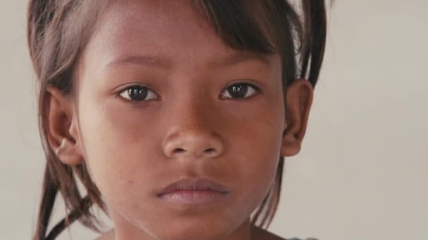 Sad child from Cambodia