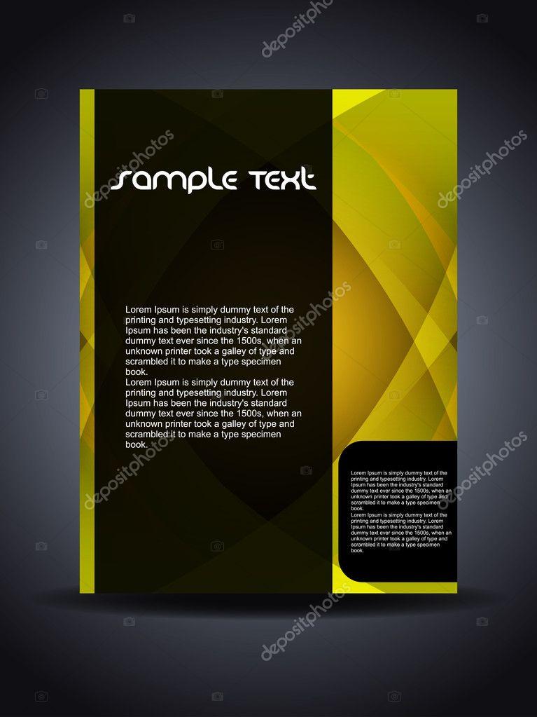Presentation of creative flyer or cover design