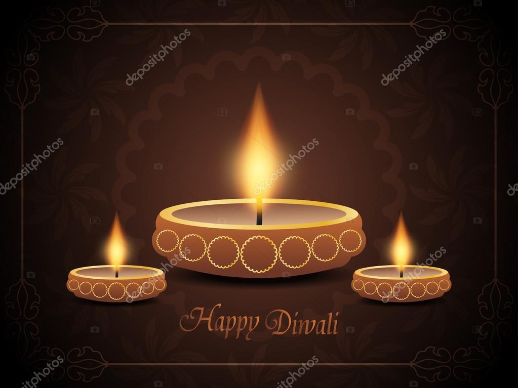 Colorful background design for diwali with beautiful lamps.