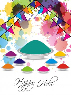 Vector illustration of beautiful background for indian holi festival stock vector