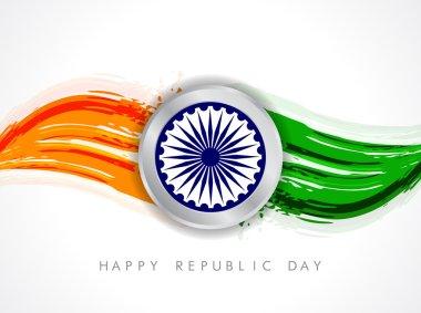 Creative modern Indian flag vector design art.