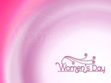 Elegant design element for women's day