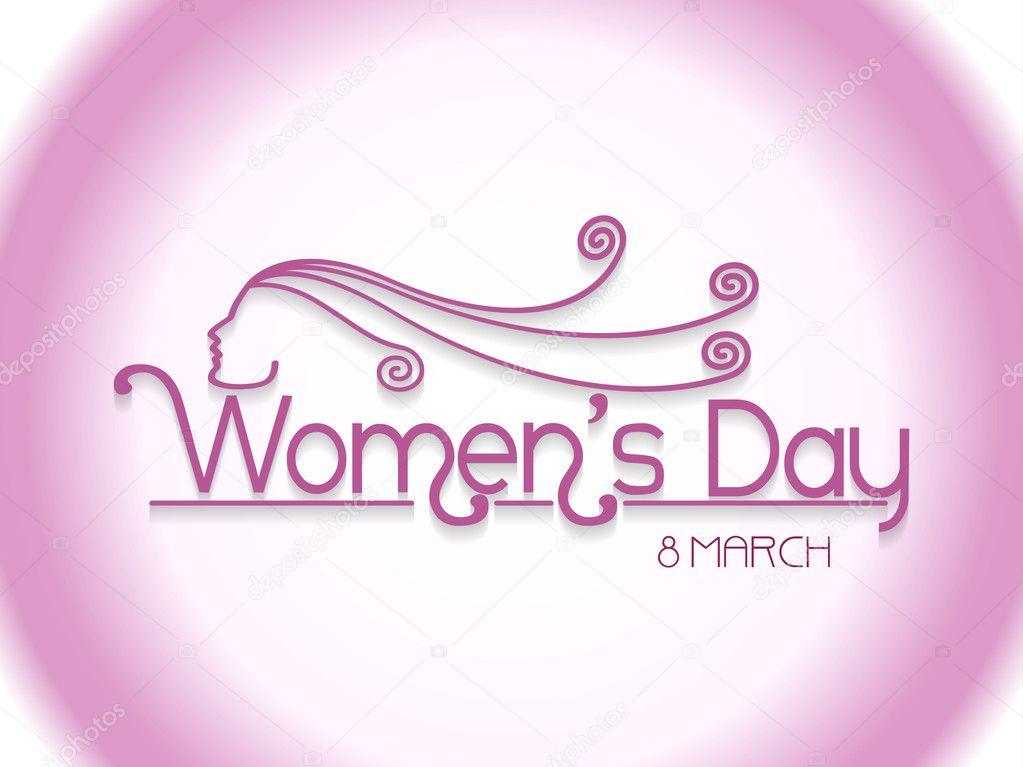 Elegant design element for women's day