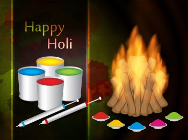 Vector illustration of colorful background for Indian festival Holi stock vector