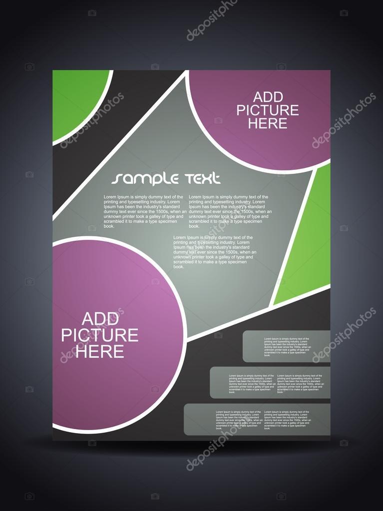 Presentation of creative corporate flyer or cover design.