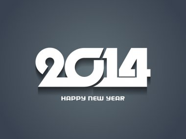 Elegant happy new year 2014 design.
