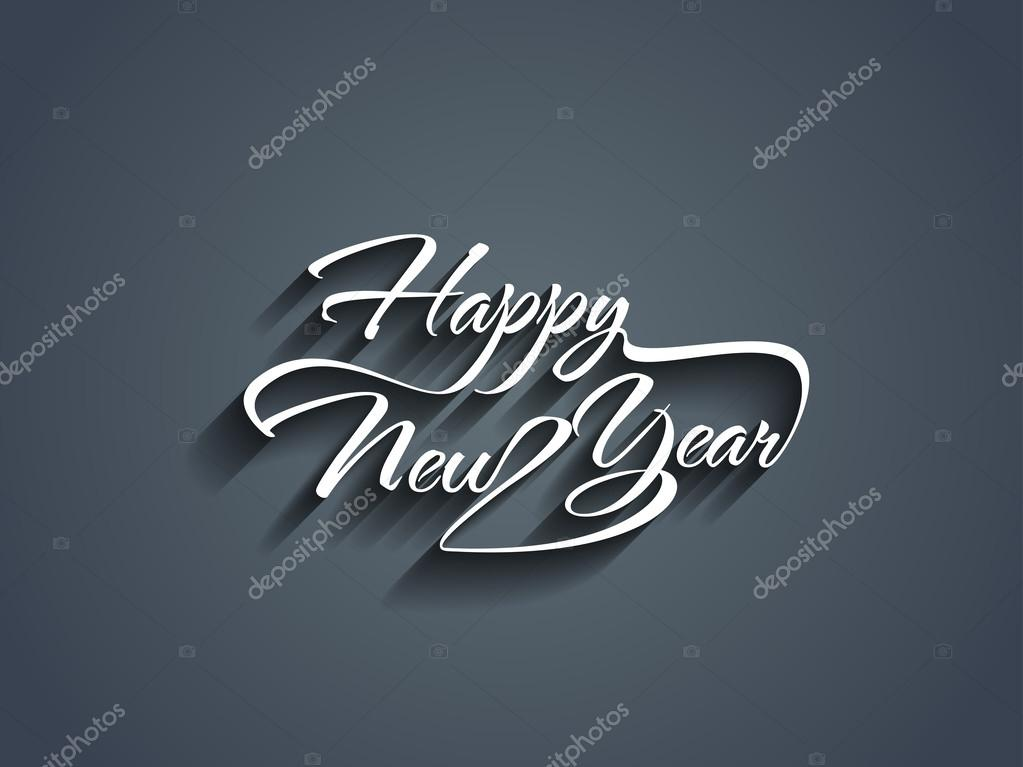 Beautiful elegant text design of happy new year.