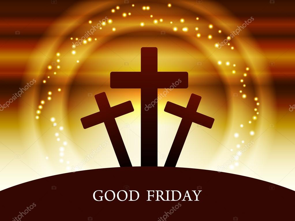 Religious colorful background design for Good Friday.