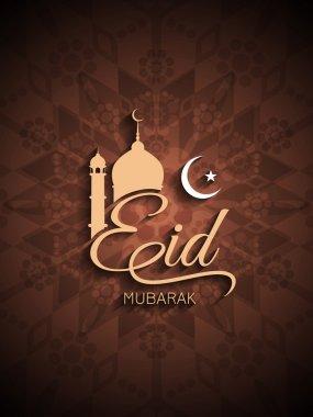 Creative Eid Mubarak background design.