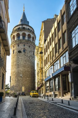 Beautiful view on Galata tower in the morning, Istanbul