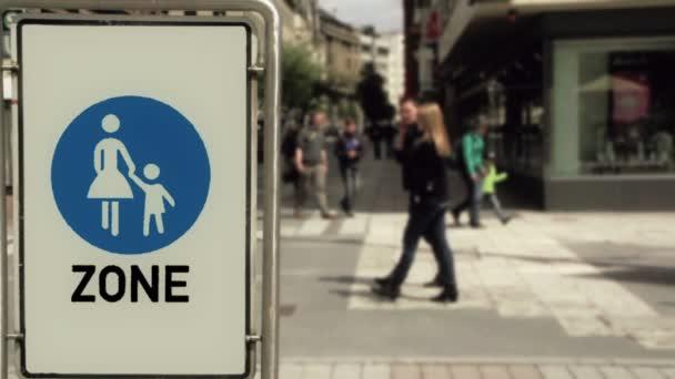 Pedestrian zone in the city