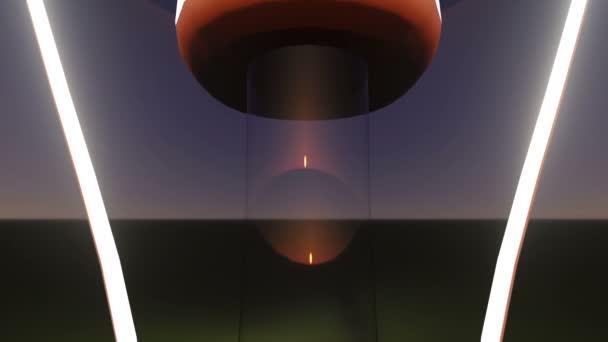 Camera track throug light bulb
