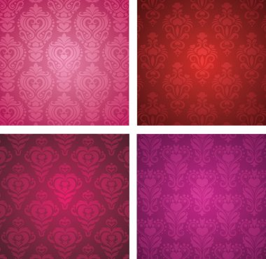 Set of a Valentine's day wallpapers. clip art vector
