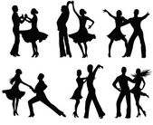 Fotografie tanzenden Silhouetten