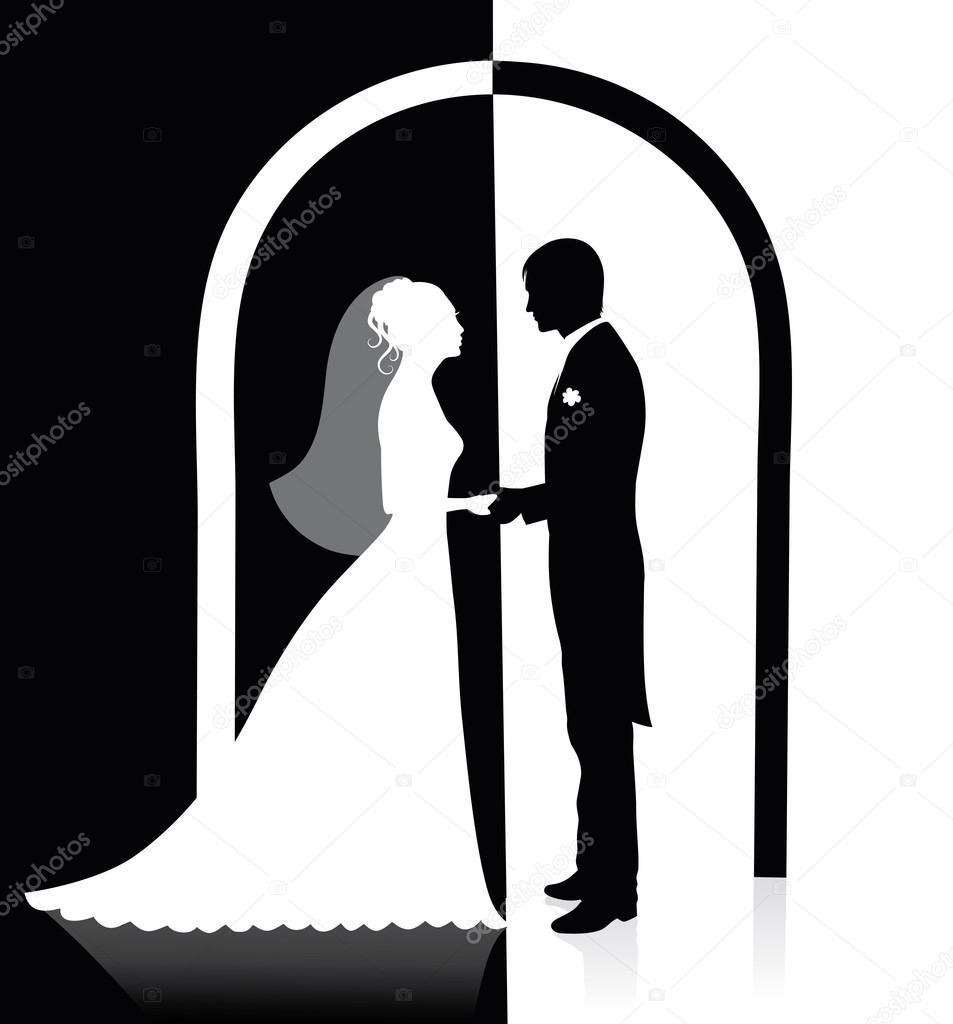 и черно невеста картинка жених белая