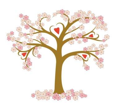 Stylized flowering tree