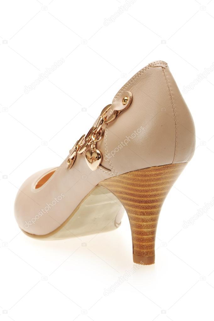 scarpa di donne eleganti tacco alto sul bianco — Foto Stock ... 0e0accb997a