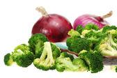 vařená brokolice připraven na zelený salát
