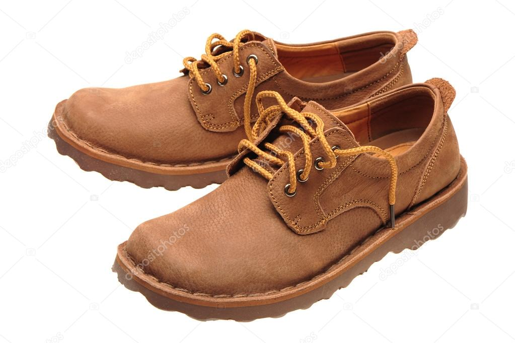 the best attitude 48c1c c8b0e Une photo d une paire de chaussures hommes sur fond blanc — Photo