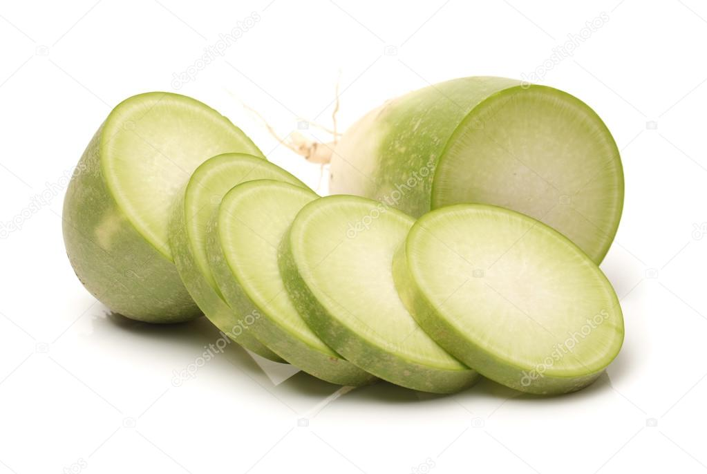 sliced green radish - 612×410