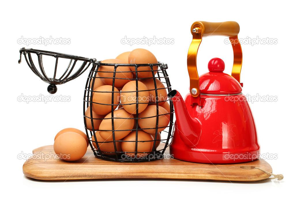 eier im wasserkocher