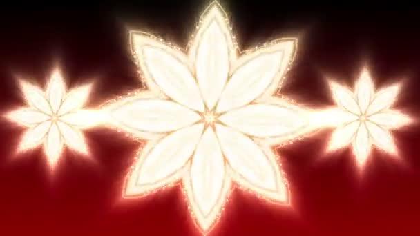 Červená vánoční hvězda - abstraktní pozadí 90 (Hd)