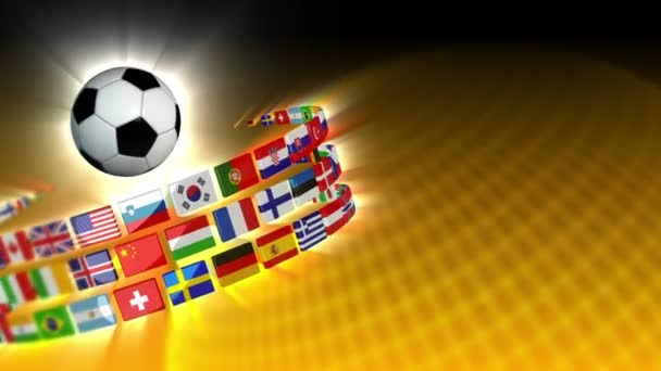 Soccer International Flags Sport Background