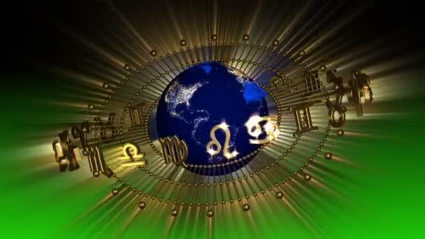 Golden Astrologie Tierkreiszeichen und Planetenerde
