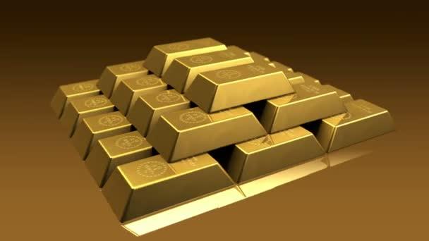 Tégla arany piramis
