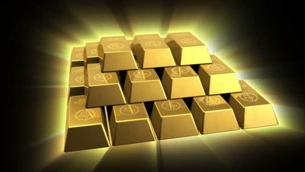 Shiny Gold Bricks Pyramid
