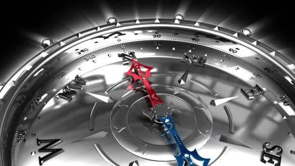 Richtung zum Erfolg - Silber-Kompass