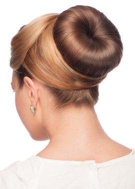 Woman with elegant hair bun
