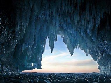 "Картина, постер, плакат, фотообои ""вид из ледяной пещеры "", артикул 14337953"