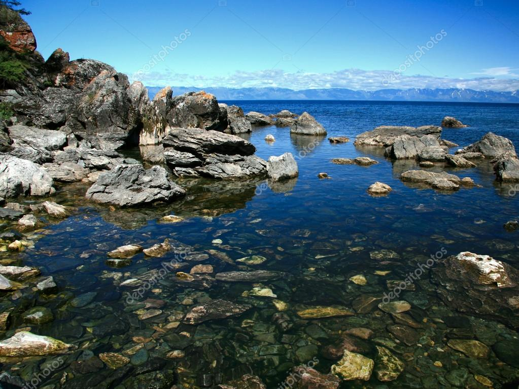 View of Lake Baikal Ushkaniye Islands