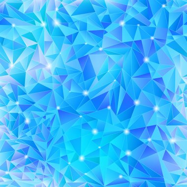 Geometric background of blue triangle