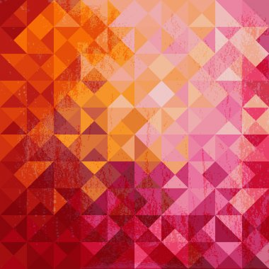 Geometric background of colored triangle
