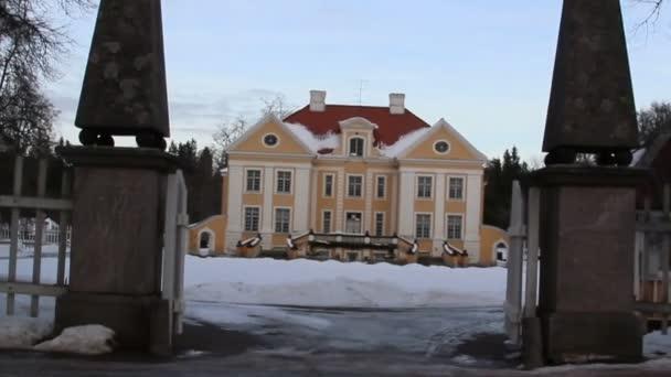 vstupní brána velkého starého panského v pobaltské Estonsko