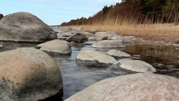 Big rocks on the sea coast
