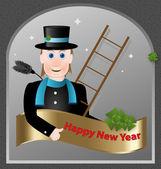 novoroční přání tvoří kominík