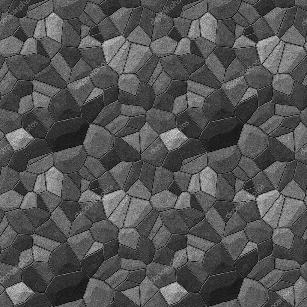 Stone Wall Seamless Texture Tile Stock Photo